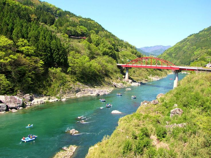 Yoshino river is widely known as Japan's rapidest stream and it spreads across four prefectures including Tokushima on Shikoku island.