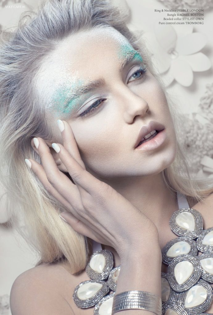 Volt Magazine, Miss White I #makeup #whiteinspo #beauty www.pampadour.com