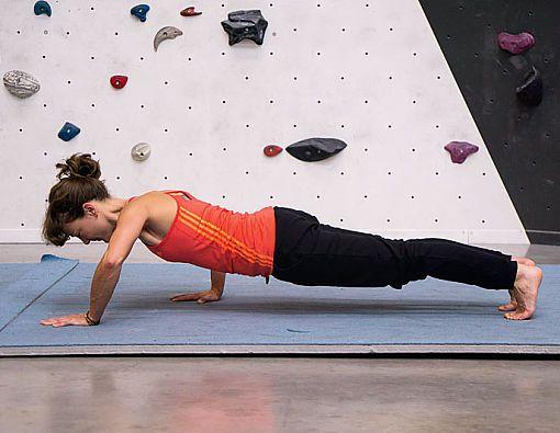 Klettertraining Übungen für Körperspannung Krafttraining Core