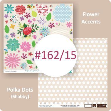 Flower Accents/Polka Dots Shabby