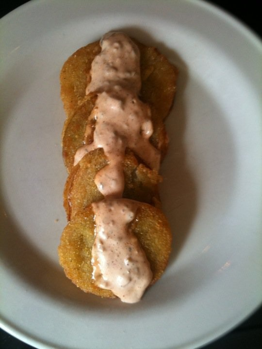 Fried Green Tomatoes with Rémoulade... Ingredients: 2 tsp chili ...