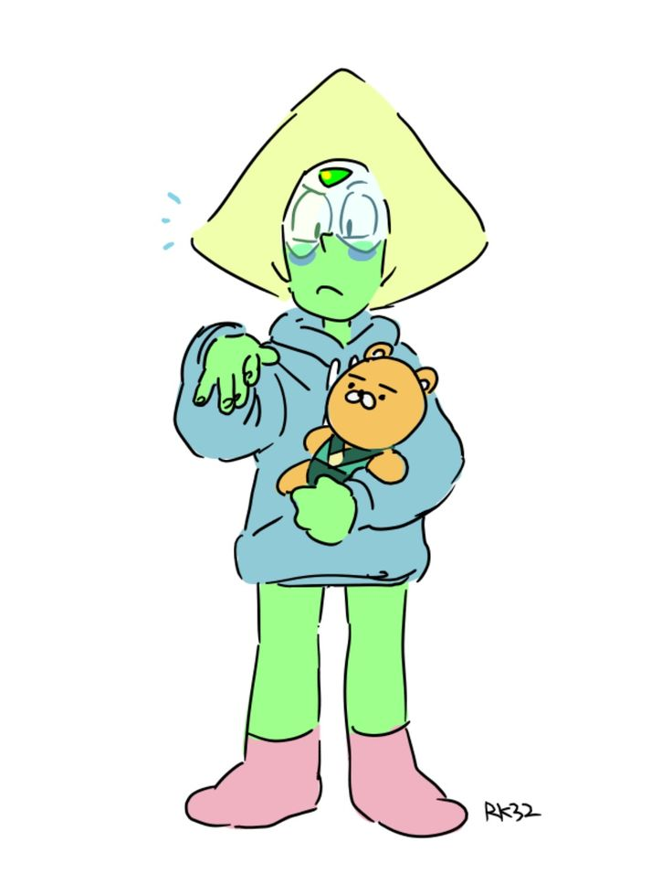 Peridot in hoodie gives me life