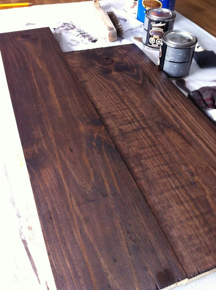 Varathane Kona On Pine Gorgeous Deep Dark Color