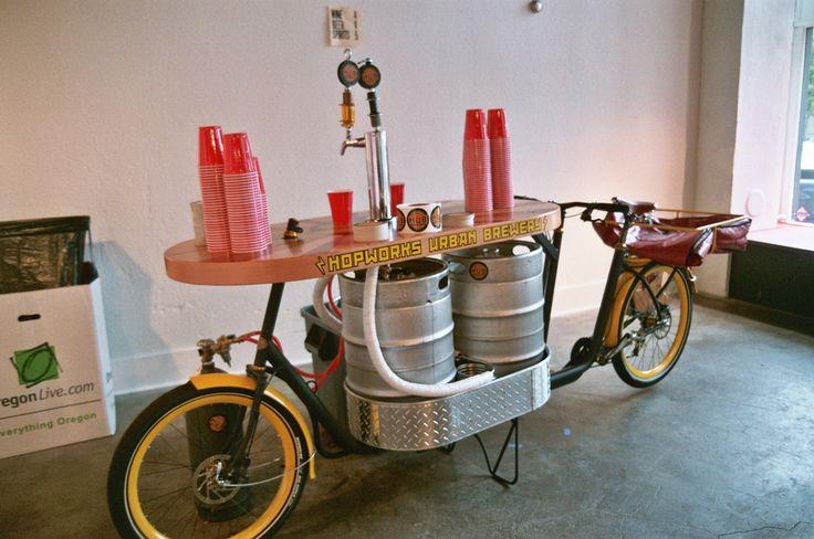 the hopworks urban brewery beer bike | Sarah Gilbert | Flickr