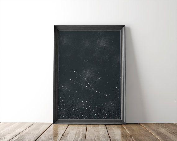 Taurus Constellation Fine Art Print // zodiac by bellesandghosts