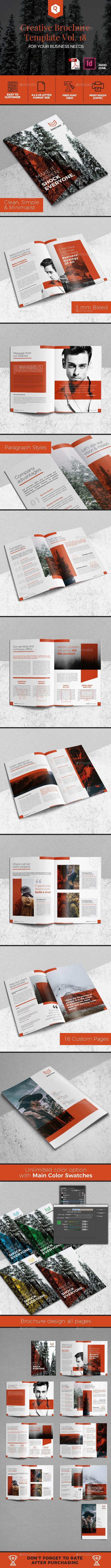 Creative Brochure Template Vol. 18 - Corporate #Brochures Download here: https://graphicriver.net/item/creative-brochure-template-vol-18/20031758?ref=alena994