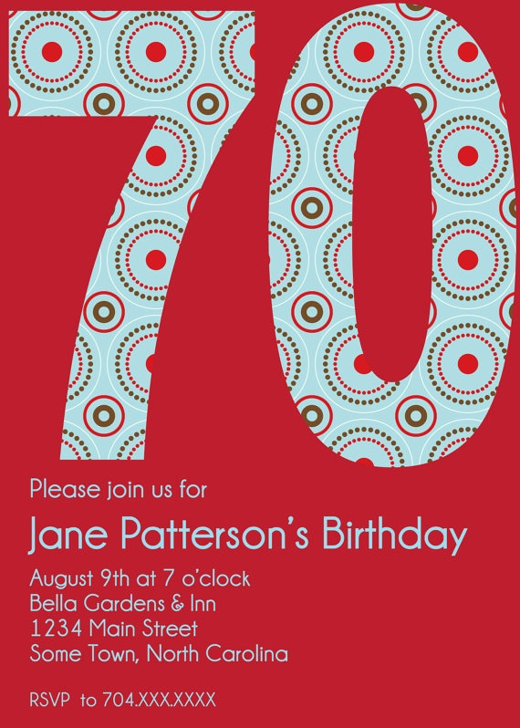 70Th Birthday Party Invitations Ideas is perfect invitation layout