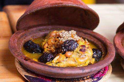 This recipe was shared by Tierra y Mar Winery. Pair With Tierra y Mar 2014 Page-Nord Vineyard, Napa Valley #Syrah.  A tagine is a stew which gets its name from the conical, lidded, earthenware cooking dish traditionally used in Morocco. There's no need to worry if you don't have a tagine, a lidded casserole dish is just fine.