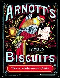 Arnott's Biscuits. Sadly, yet another Australian icon sold off and no longer Australian owned.