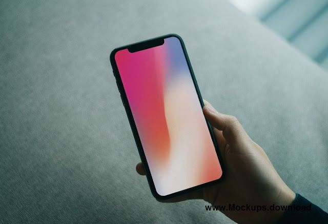 Hand Holding Free Iphone X Mockup Template Iphone Mockup Iphone Iphone Mockup Free