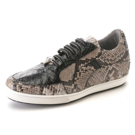 Mens sneaker for US $275. A  Black Genuine Croc & Python Sneakers. Buy more save more. Buy 3 items get 5% off, Buy 8 items get 10% off.
