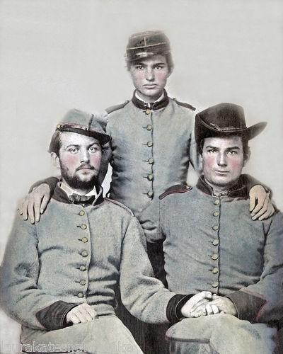 Three brothers Confederate Soldiers, Artillerymen. ca 1861