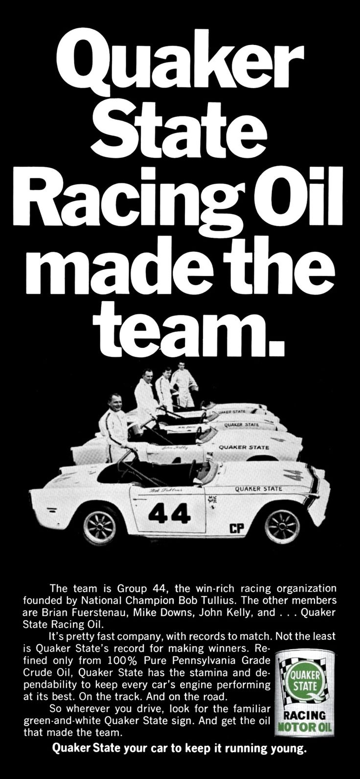 Group 44 racing tr250 quaker state ad