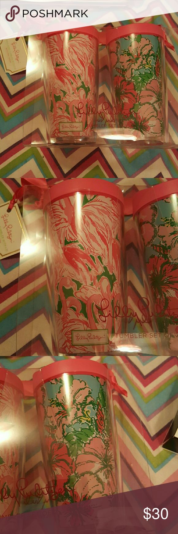 2 Nwt lilly pulitzer insulated tumbler with lids. 2 Nwt lilly pulitzer insulated tumbler with lids. Lilly Pulitzer Accessories
