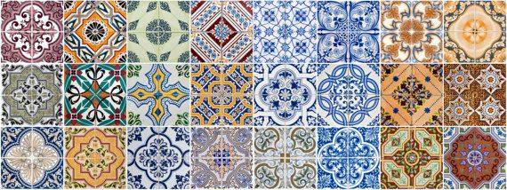 Set of 24 Tiles kitchen Decals Tiles Stickers mixed by AlegriaM