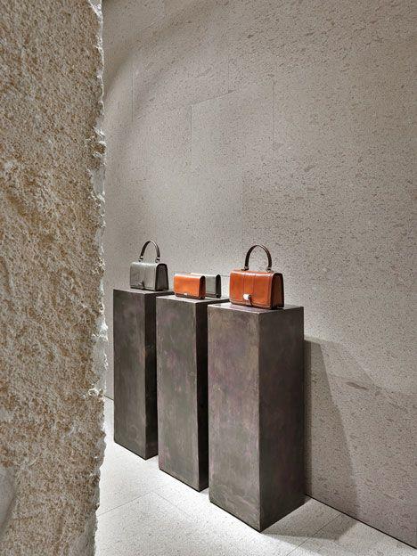 Giada Milan fashion boutique interior design by Claudio Silvestrin #Maroquinerie minimaliste , béton, #boutique inspiration et #design