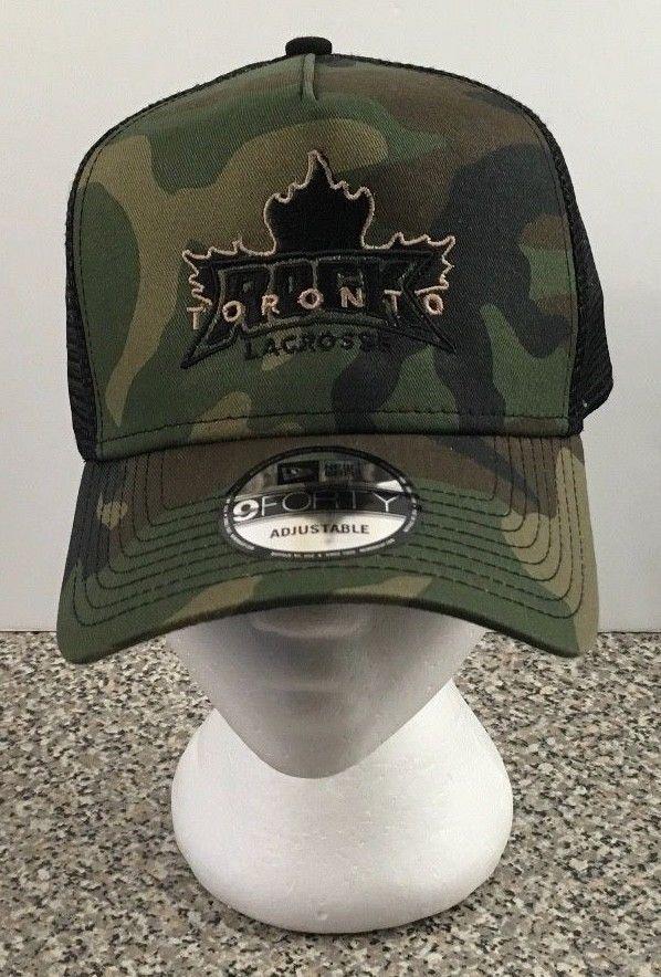 Toronto Rock Lacrosse NewEra 9Forty Snapback Hat Cap Camo Camouflage Mesh  #NewEra #Trucker
