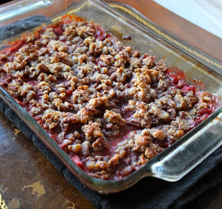 Paleo Strawberry Rhubarb Crumble - One of the best paleo dessert recipes I've ever tried.