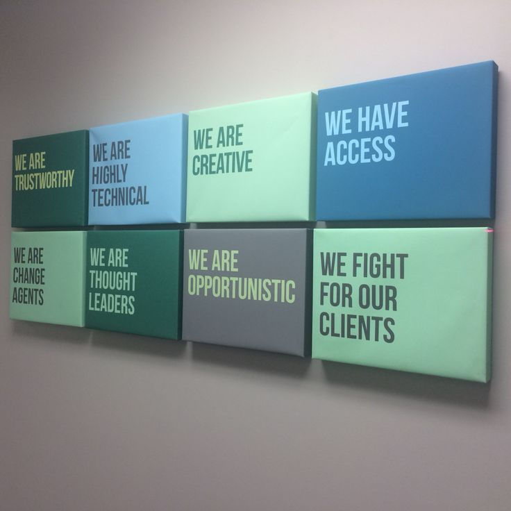 Our company's customer-facing values (from our office wall at our Framingham MA headquarters)