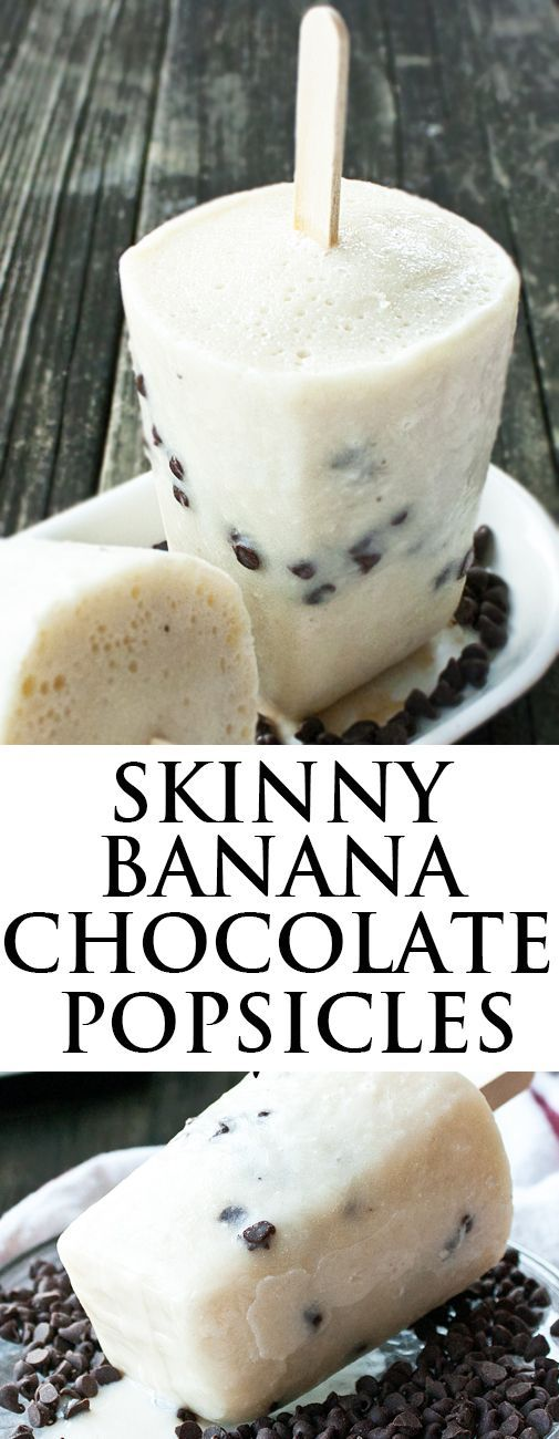 This quick and easy HEALTHY BANANA CHOCOLATE popsicles recipe requires 3 ingredients only. These healthy popsicles are also sugar free and great as a skinny dessert or snack. From cakewhiz.com