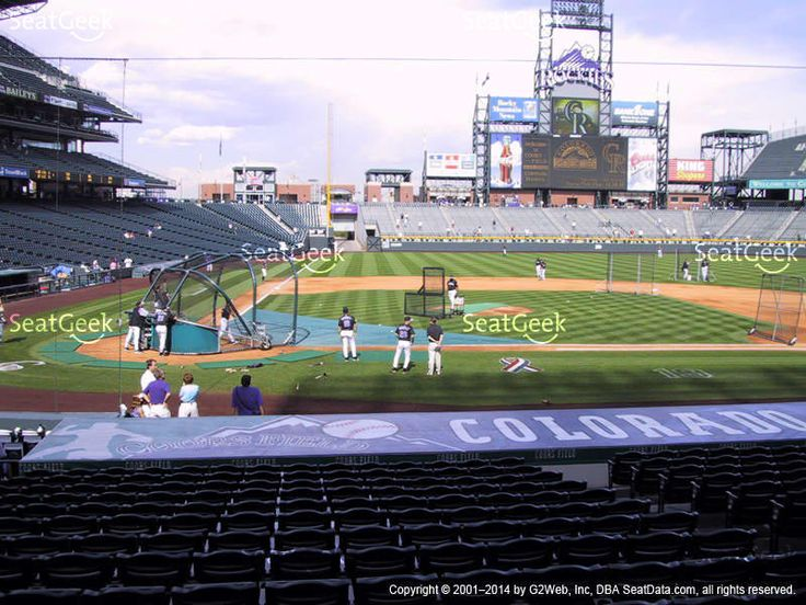 Colorado Rockies at Coors Field Section 125 View