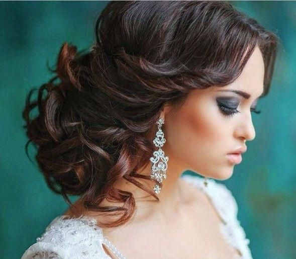 Elegant Wedding Updo Hairstyles for Long Hair #sideUpdos - #Elegant #hair #Hairstyles #Long
