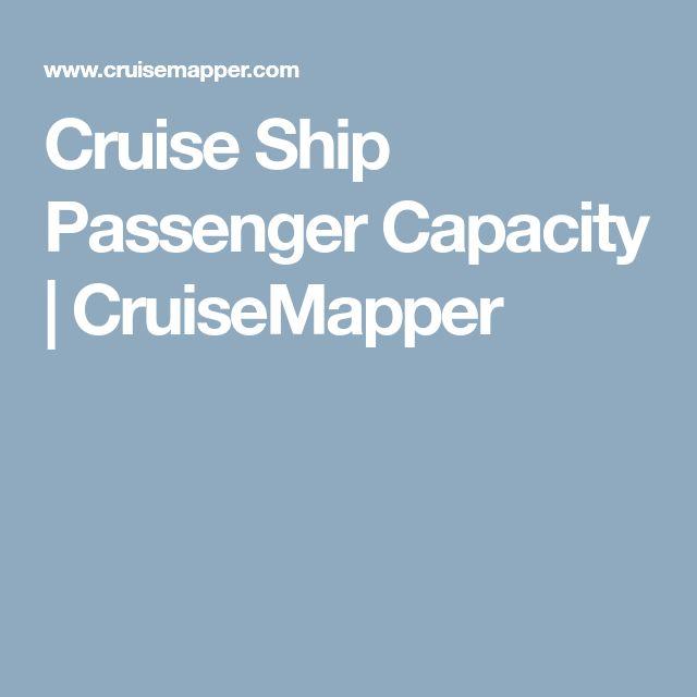 Cruise Ship Passenger Capacity | CruiseMapper