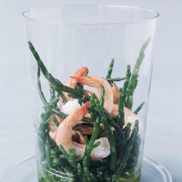 Salade de salicorne aux crevettes roses