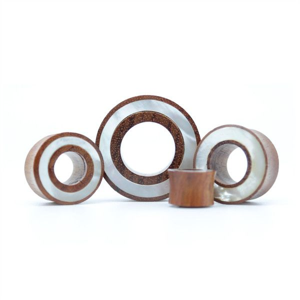 White Shell Tunnel | UK Custom Plugs - Ear Gauges, Flesh Tunnels for Stretched Ears