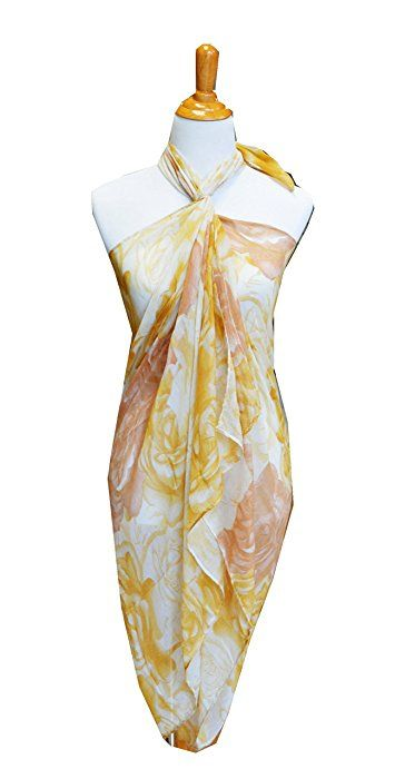 234356197dea1 SCARF_TRADINGINC® Rose Chiffon Pareo Scarf Wrap Shawl Sarong Swimsuite Cover -up (Rose Blue) at Amazon Women's Clothing store: