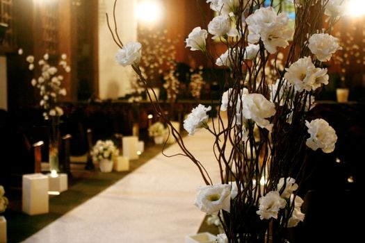 wedding ceremony decor, simple but elegant