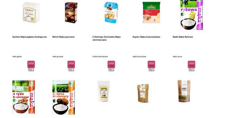 Czytamy skład i porównujemy etykiety produktów Mąki bez pszenicy - bezglutenowe. Zobacz skład i polecane produkty przez Czytaj Skład