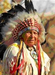 Cherokee Indian Chief Henry Wolf of Cherokee Indian Reservation in  Cherokee, NC