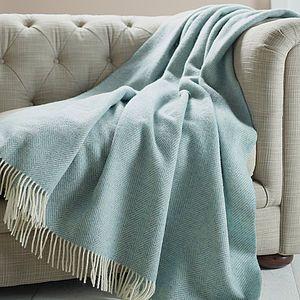 Herringbone Pattern Wool Throw - autumn home accessories