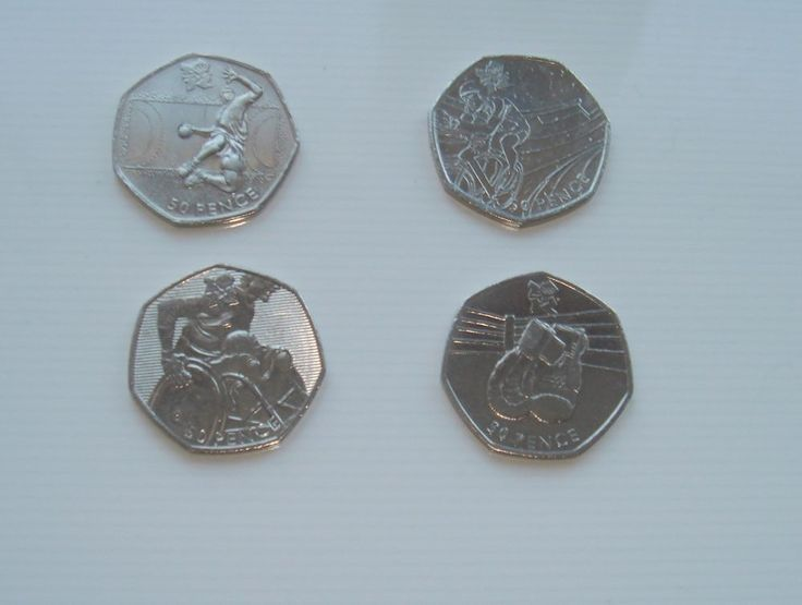 50p Fifty Pence Coins x 4 Wheelchair Rugby Cycling Boxing Handball £7.50 or Best Offer Ebay Uk Item Number 263342039591