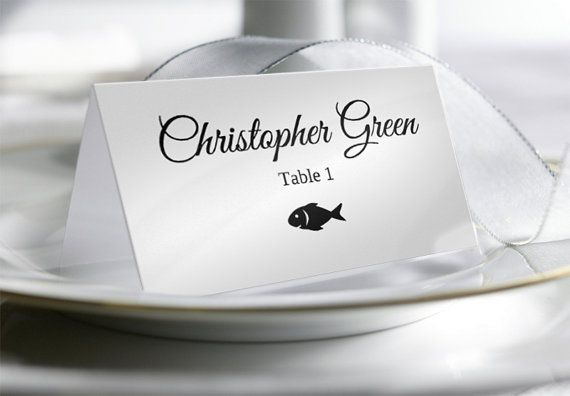 Wedding Place Card Template with Food Options  by YouPrintEm