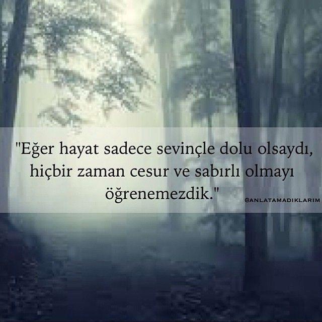 Eğer hayat sadece sevinçle dolu olsaydı, hiçbir zaman cesur ve sabırlı olmayı öğrenemezdik. - Helen Keller