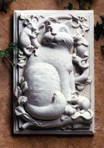 Товар #: 114  Люди либо любить или ненавидеть зубы на этом ухмыляясь кошки. Был ли он играть с мышами или уговаривая их ближе?  любители кошек проявили этот сад налета в помещении в солярии или на открытом воздухе на заборе или палубы.  Цена: $ 41.00 Вес: 7,00 фунта Размеры: W 10.50x H 7.00x D 2.50 Состав: Рука ролях камень Кот и Мышь доска - Carruth Студия