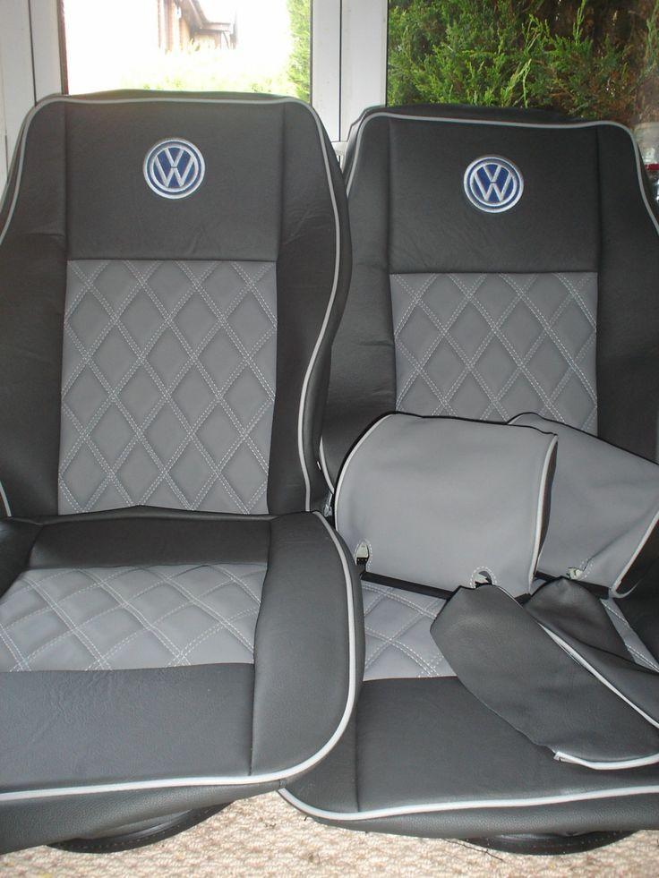 images  vdub interiors  ideas  pinterest upholstery rear seat  vw bus