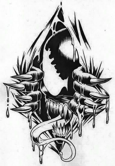 Resultado de imagem para venom tattoo tribal