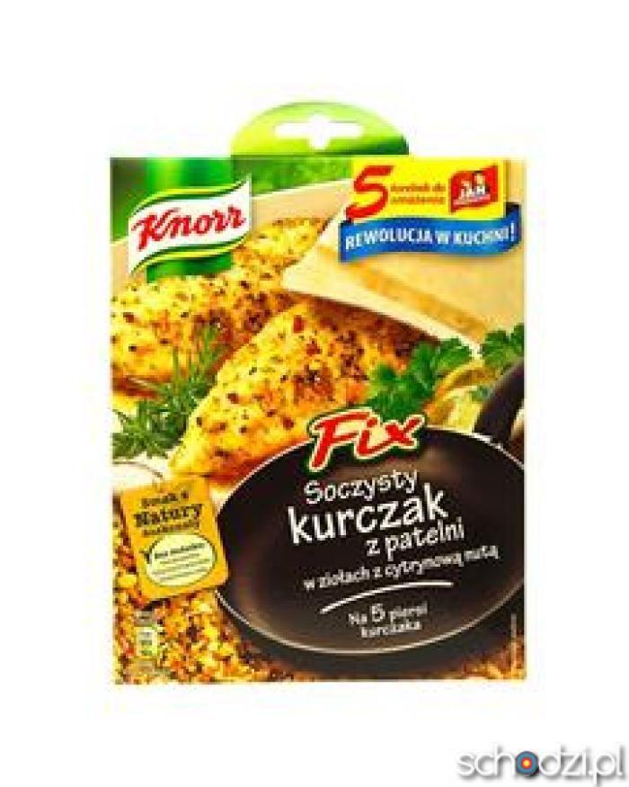 Fix Knorr Soczysty kurczak z patelni w ziołach - Schodzi.pl