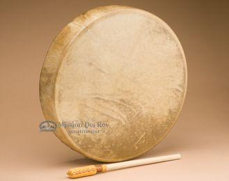 "Native American Elk Hand Drum 15"""" -Shoshone (hdab)"