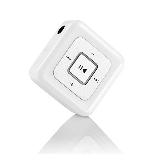 Cheap Mini Bluetooth Receiver 4.1 URANT Wireless Portable Audio Adapter Music Streaming Upgrade Headphones to Bluetooth with High Stereo Sound for Car Home Stereos Cable Earbuds Earphones (Mini Box White) Best Selling