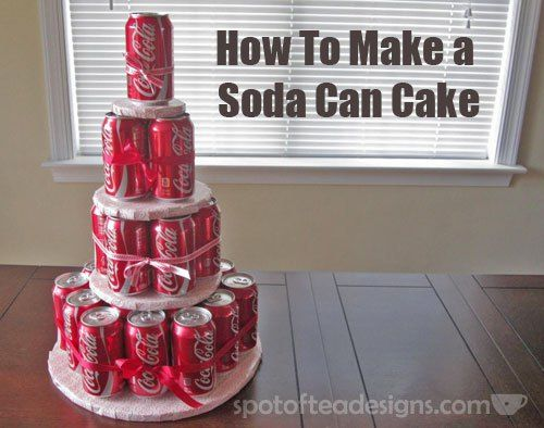 How to Make a Soda Can Cake Tutorial - sadly perfect for my dad and father-in-law