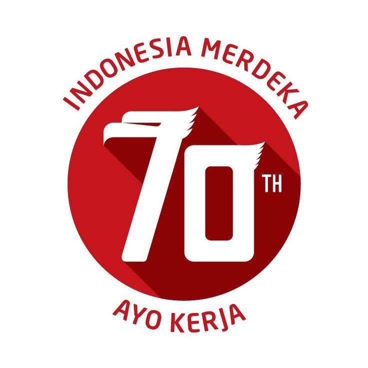 celebrating 70 years of Indonesia independence day - Logo