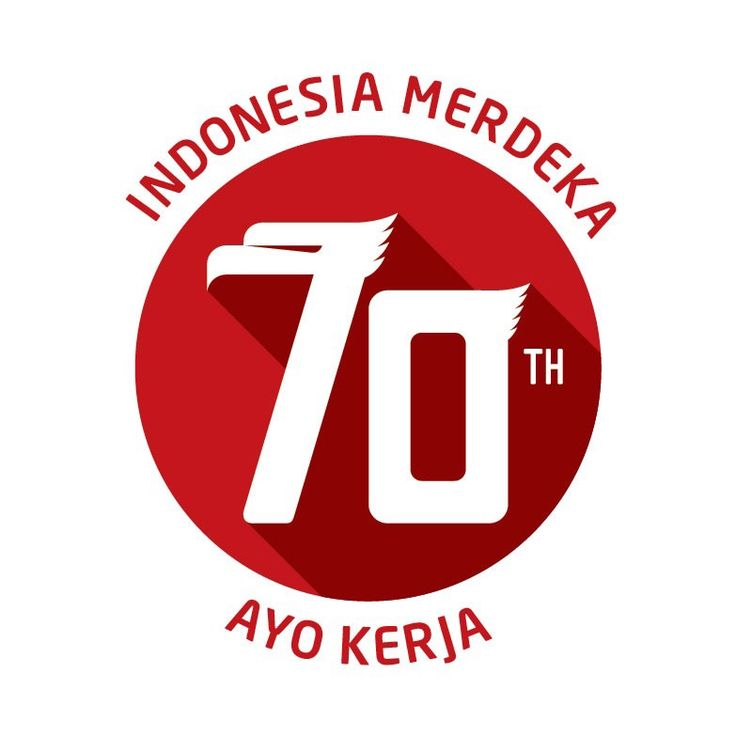 celebrating 70 years of Indonesia independence day - Logo
