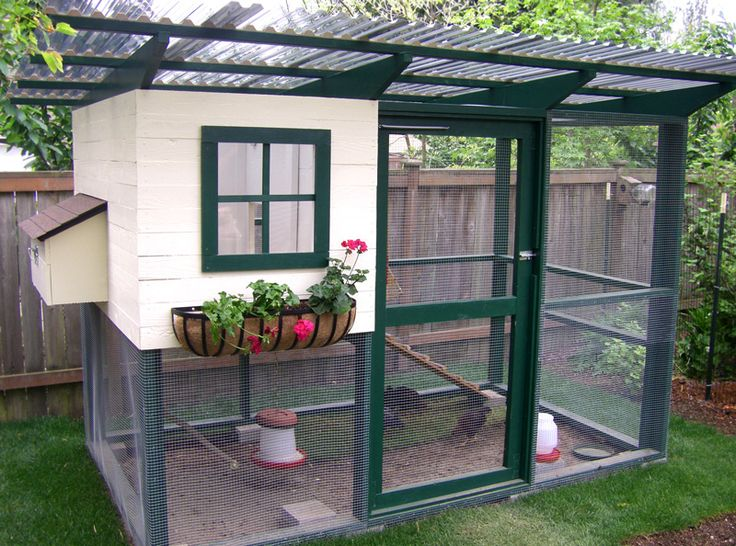 Best Chicken Coop Run Ideas Images On Pinterest Chicken - Chicken co op with flowers