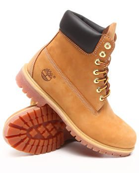 "Buy 6"" Wheat Premium Boots Men's Footwear from Timberland. Find Timberland fashions"