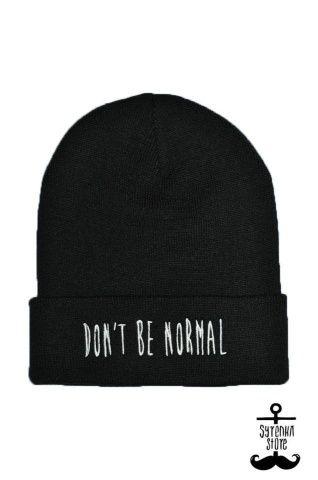 Don't be normal beanie www.syrenkastore.com