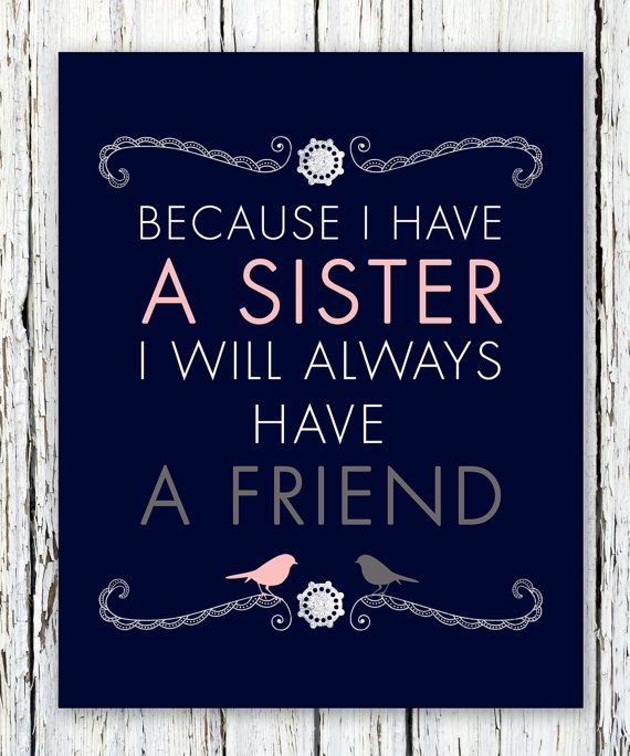 Sisters Personalized Gift Maid of Honor Gift by WordsWorkPrints, $16.00